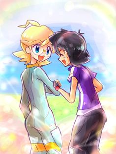 ❥Ash and Clemont