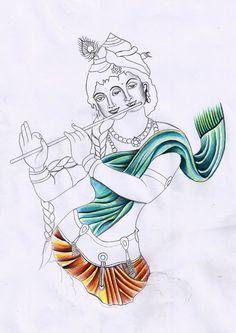 "Potrait Drawing ""radhakrishna"" sketch for client, finished for today, done by Ravi Gohel at Black Art Tattooz. Krishna Drawing, Krishna Painting, Madhubani Painting, Krishna Art, Lord Krishna, Kali Shiva, Radhe Krishna, Art Drawings For Kids, Pencil Art Drawings"