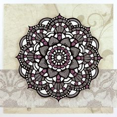 Card with Mandalistick peel-off's Tiles. Mandala coloring in a smaller size.