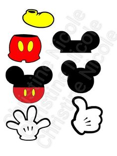 Mickey Mouse body parts SVG file by AnythinguwantCrafts on Etsy Mickey First Birthday, Mickey 1st Birthdays, Boys First Birthday Party Ideas, Jungle Theme Birthday, Mickey Mouse Clubhouse Birthday, Mickey Mouse Gloves, Mickey Minnie Mouse, Wooden Welcome Signs, Disney Bridal Showers
