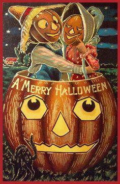 Vintage Halloween Postkarte Sanders - nightmare before xmas :) - Retro Halloween, Victorian Halloween, Vintage Halloween Images, Halloween Prints, Halloween Pictures, Spooky Halloween, Holidays Halloween, Happy Halloween, Halloween Ideas
