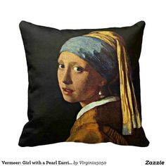 Vermeer: Girl with a Pearl Earring (2) Throw Pillow