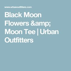 Black Moon Flowers & Moon Tee | Urban Outfitters