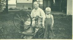 Old Woman Sitting At Spinning Wheel Little Blonde Boy Farm Life 1920s Antique  Vintage Black White Photo Photograph on Etsy, $7.75