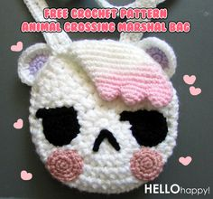 Free Crochet Pattern: Animal Crossing Marshal Amigurumi Bag  http://hellohappylisa.tumblr.com/post/73852635397/free-crochet-pattern-animal-crossing-marshal-bag