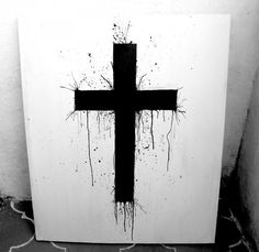 painted cross, would make an awesome tattoo