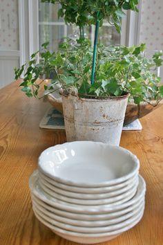 Ironstone and Pine: White Ironstone Dishes