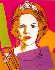 Queen Beatrix of the Netherlands (Queen of Orange) by Andy Warhol art  stuart tiara