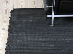 Woven Rug out of recycled bicycle tire by Annemette Beck. Good resource for recycled materials - she also makes fabrics, runners, blinds, and room dividers out of recycled materials.