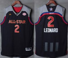 Spurs  2 Kawhi Leonard Charcoal 2017 All Star Stitched NBA Jersey Star  Stitch d3b42909717