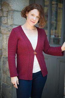 Dalriada by Amy Herzog - knit cardigan sweater using our Bijou Spun 100% Yak Sport Weight yarn