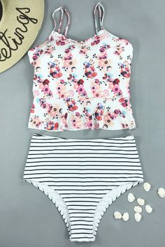 2e05fd2245 Beachsissi Bless Of You Two Piece Swimwear Two Piece Swimwear, High Waisted  Shorts, Swimming
