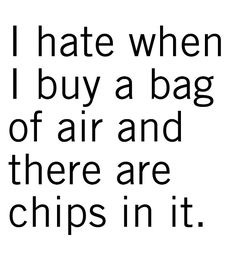 Seriously, we're not stupid.  Just make the bag smaller if that's all you're going to put in there!!