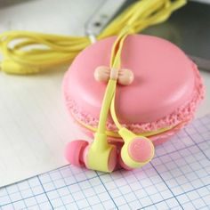 Earbuds in a macaron case too cute to ever lose.