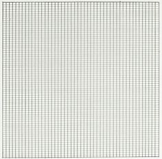 """Agnes Martin quote """"It wasn't till I found the grid, in New York in 1960, that I felt satisfied with what I was doing. When I first made a grid I happened to be thinking of the innocence of trees, and I thought the grid represented innocence, and I still do. So I painted it, and I've been doing it for thirty years."""""""