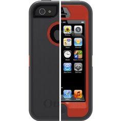 Otterbox Defender Bolt Cover Hard Case+belt Clip Holster for Apple Iphone 5 Orange /Grey