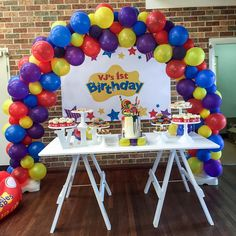 Wiggles Party, Wiggles Birthday, The Wiggles, Boy First Birthday, Birthday Themes For Boys, First Birthday Parties, Birthday Party Decorations, Prop Hire, Milk Cake