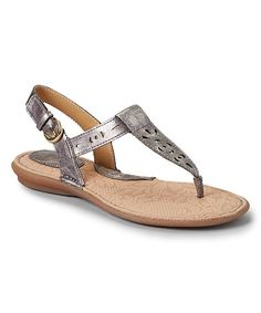 Love this Pewter Metallic Charel Thong Sandal by b.o.c on #zulily! #zulilyfinds