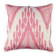 "Add a touch of exotic allure to your sofa, settee, or master bed with this gorgeous design, showcasing an eye-catching design and plush fill.    Product: Pillow    Construction Material: Cotton    Color: Pink    Features:  Insert included    Hand-crafted in India  Dimensions: 21"" x 21""  Cleaning and Care: Dry clean only"