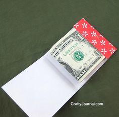 Crafty Journal - Matchbook Money Gift