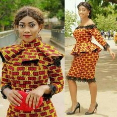 Two styles in one...simply Gorgeous! #Ankara #Cute #lovely african wear