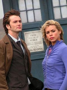 David Tennant Photo Of The Day - 10th September 2014: As the Tenth Doctor in 'New Earth' (with Billie Piper as Rose Tyler) - April 2006
