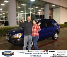 https://flic.kr/p/EvJKRV | Happy Anniversary to Jason & Emily on your #Kia #Sportage from Mark Gill at Huffines Chrysler Jeep Dodge Ram Lewisville! | deliverymaxx.com/DealerReviews.aspx?DealerCode=XMLJ