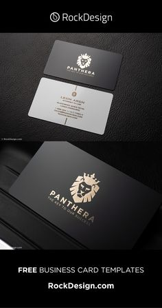 Elegant black and white metal business cards - Panthera Business Card Printer, Business Cards Layout, Metal Business Cards, Professional Business Card Design, Luxury Business Cards, Black Business Card, Free Business Card Templates, Elegant Business Cards, Free Business Cards