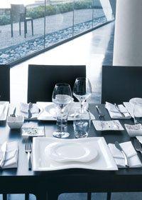 chef & sommelier open up wine glasses