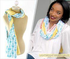 Embrace Double Gauze Ruffled Scarves: Fabric Depot & Shannon Fabrics | Sew4Home http://www.shannonfabrics.com/embrace?view=all