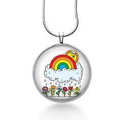Rainy Day Necklace with Rainbow, sun, clouds, Handmade Je... http://www.amazon.com/dp/B01FBGPN40/ref=cm_sw_r_pi_dp_B43rxb16MGWS6