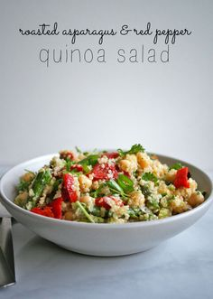 asparagus red pepper quinoa salad roasted asparagus red pepper quinoa ...