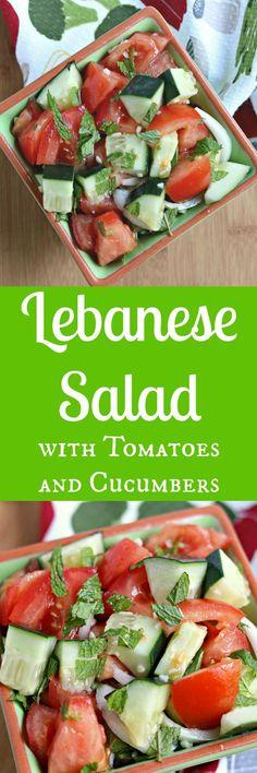 Lebanese salad cucumbers tomatoes
