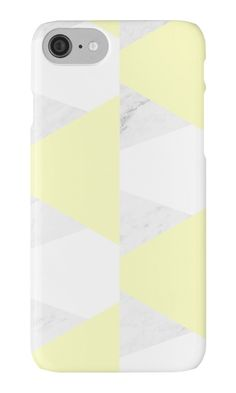 20%OFF EVERYTHING with code NEWSTUFF today, Nov 1st 2016.   Yellow White Marble Triangles by ARTbyJWP (by-jwp) in Redbubble #phonecase #phonecases #iphonecase #techaccessories #redbubble #artbyjwp