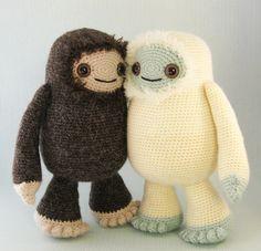 Yeti and Bigfoot amigurumi pattern (Lucyravenscar (Angry Angel)) Tags: monster snowman pattern crochet amigurumi bigfoot yeti abominable sasquatch