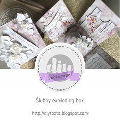 DIY - zrób to sam : PAPIEROWO/cykl pod patronatem ITD COLLECTION/ślubn... Exploding Boxes, Explosion Box, Envelopes, Challenge, Diy, Collection, Bricolage, Do It Yourself, Homemade