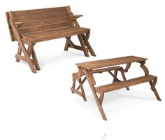 leisure season folding picnic table and bench solid wood decay resistant