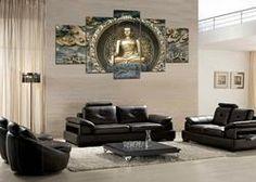 Golden Buddha - 5 Panel Canvas