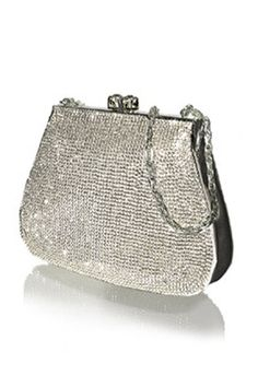 7de4ad6ef0 Judith Leiber Soft Crystal Frame Full Bead Handbag In Comet Silver Fashion  Handbags