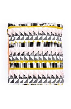 ARRO Home: cotton poplin duvet cover in Geo print. Pink, mustard and black design on white base, with apricot on reverse side. Bed Linen Australia, New West, Amazing Decor, Textile Fabrics, Quilt Cover Sets, At Home Store, Signature Design, Dorm Decorations, Linen Bedding