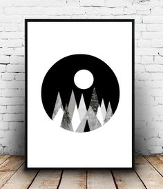 Geometric Art Print Printable Art Large Wall by honeytreeprints
