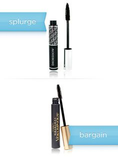 """MASCARA    The splurge: Dior Diorshow Mascara, $21.85   The bargain: L'Oreal Paris Voluminous Mascara, $8.99   Money saved: $12.86   Why you'll love it: """"[The L'Oreal] mascara is truly great and can definitely stand on its own as far as best drugstore mascara,"""" says Warren Tricomi makeup artist Kristie Striecher. """"The formula is rich and stays on well. For me, it's all about the brush -- and this brush applies the perfect coat each time. It doesn't clump and stays nice until the end of the…"""