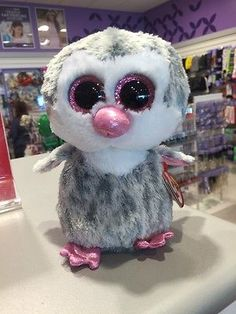 TY BEANIE BABY BEANIE BOO~OLIVE THE PENGUIN 6