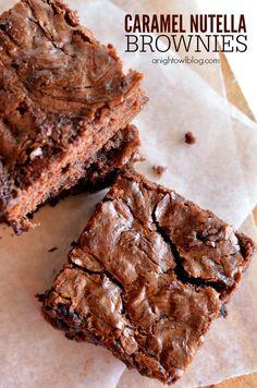 Caramel Nutella Brownies