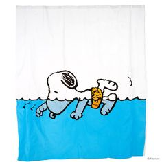 PEANUTS Duschvorhang Snoopy schwimmend - Peanuts