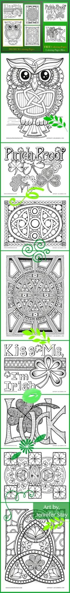 coloring pages for st patricks day printable coloring pages by jennifer stay full of