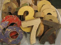 www.viacannella.nl | Gekleurde houten cijfers | VIA CANNELLA KINDERWINKEL | CUIJK