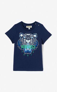 NAVY BLUE Tiger t-shirt for men KENZO