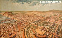 Barceloneta i la Ciutadella. Antonio Castelucho. 1882 Se ve el Torin, la primera plaza de toros de Barcelona