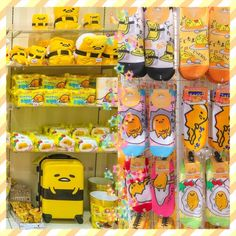 New Gudetama selection at Sanrio Puroland in Tokyo ❤ Give me that suitcase please! ❤